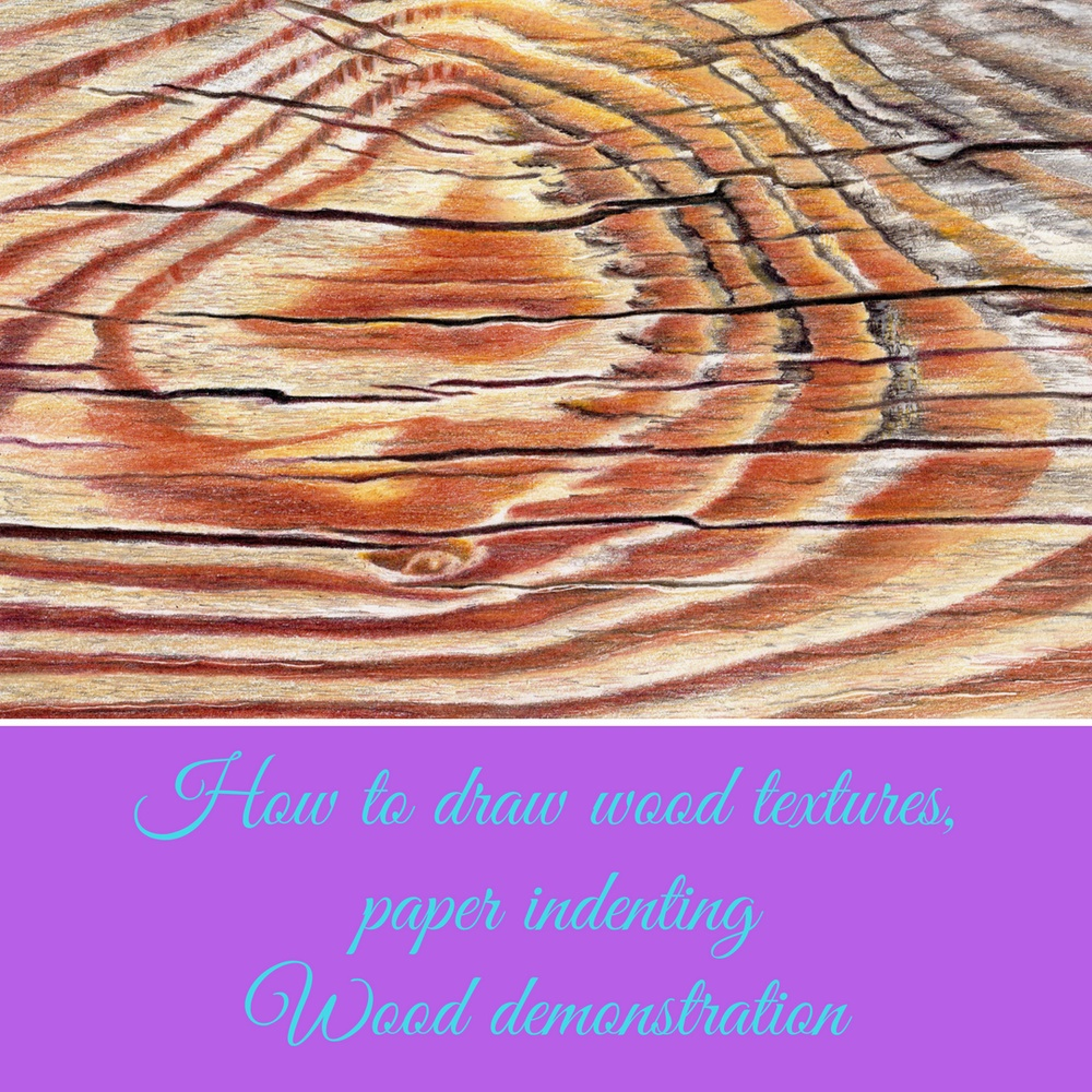 How To Draw Wood Textures Paper Indenting Wood Demonstration Vero