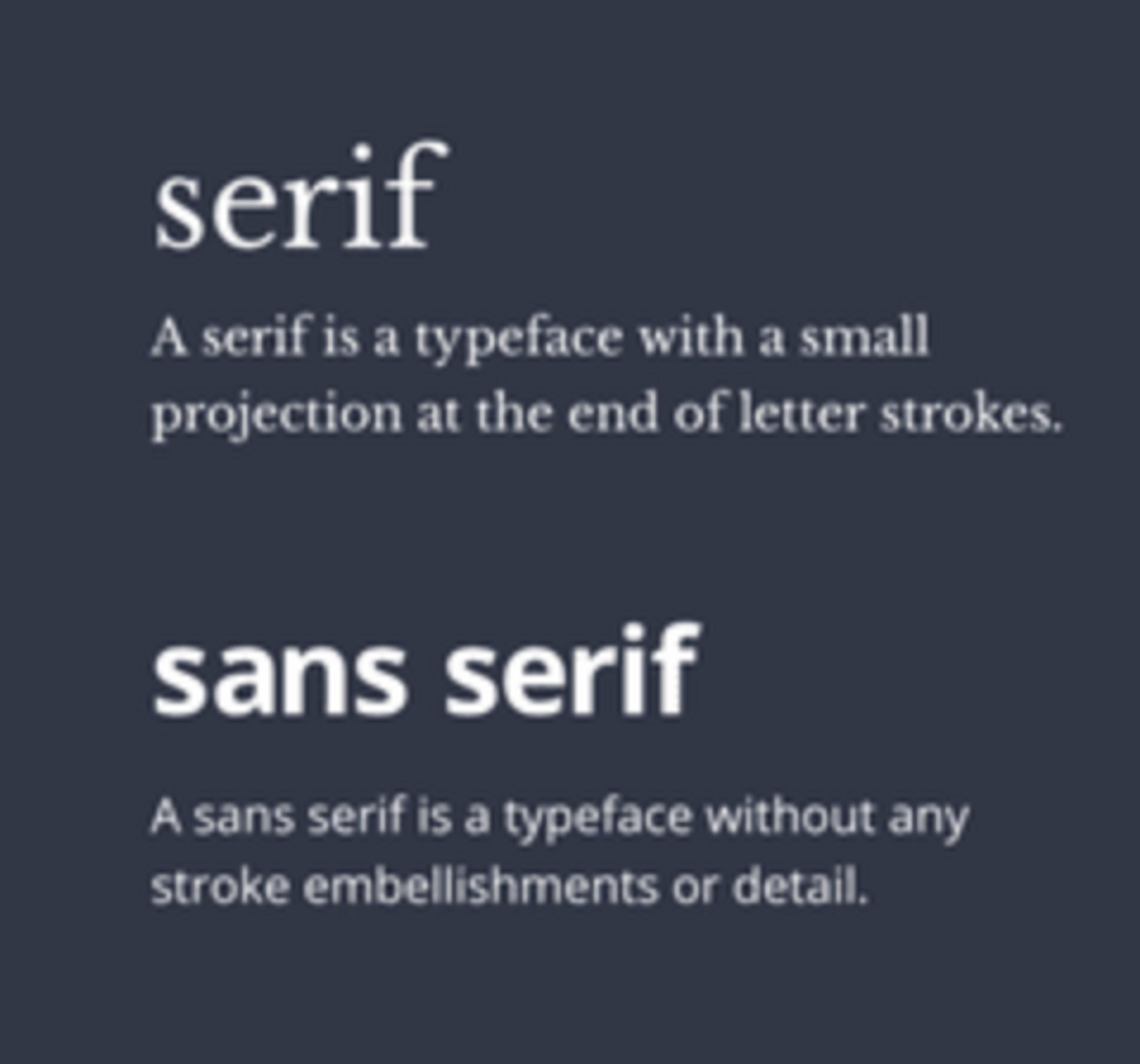 serif and sans serif fonts for Google Doc Resume