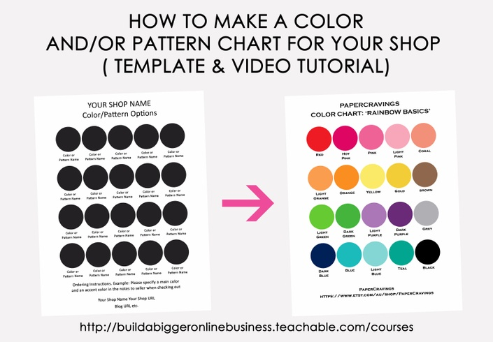 How To Make A Color Chart In  Build A Bigger Online Business
