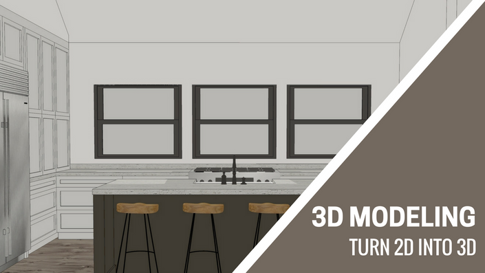 3d modeling in sketchup sketchup for interior designers for Turn floor plan into 3d model