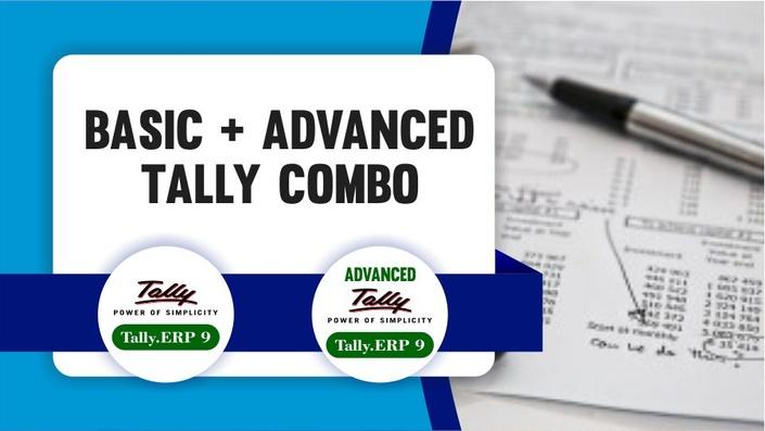 Basic+Advance Tally.ERP 9 with GST