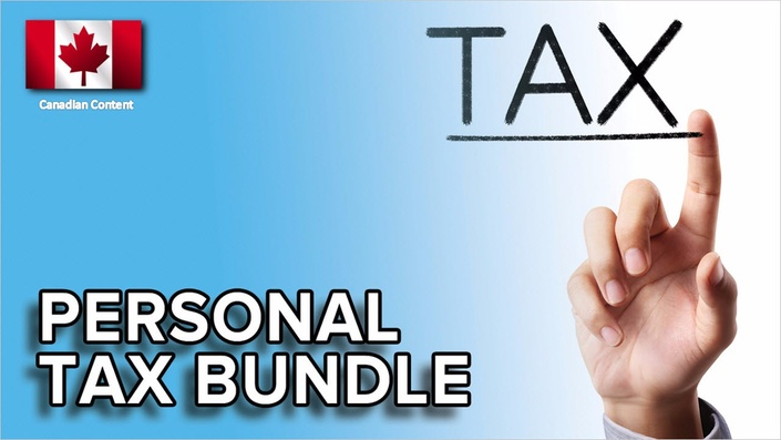 personal income tax returns - 3 course t1 bundle | canadian tax