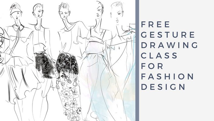 Free Gesture Drawing For Fashion Design Keys In Color