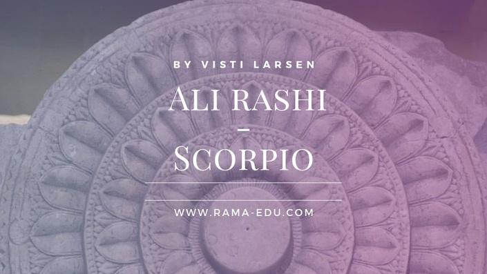 Ali (Scorpio) Māsa | RAMA