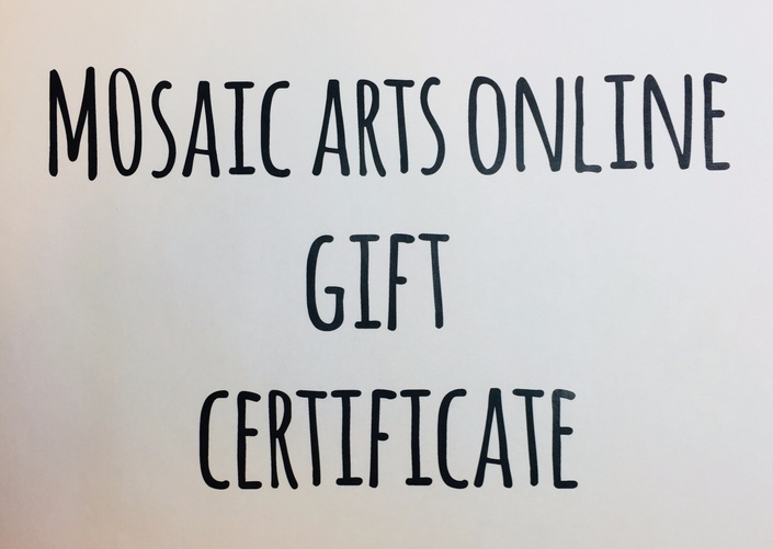 gift certificate mosaic arts online