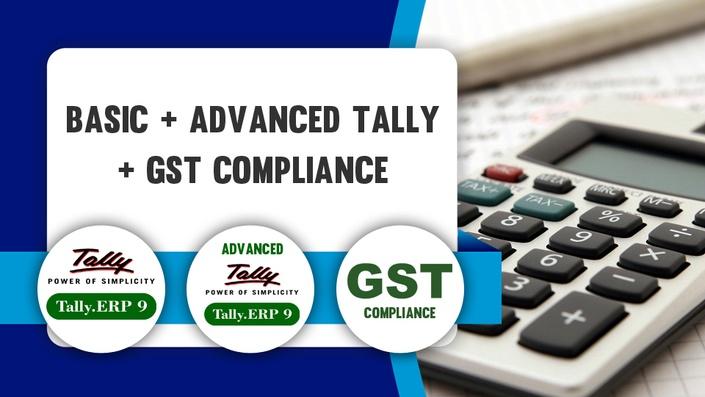 Basic + Advanced Tally.ERP9 + GST Compliance