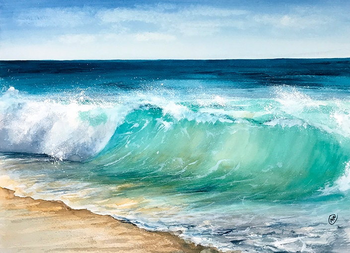 How To Paint Sea Water In Watercolour
