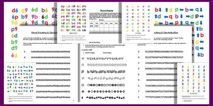 Visual Tracking Exercises Workbook (PDF Download) | Gifted Brain