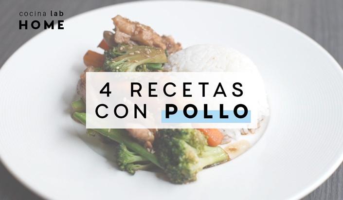 4 recetas con pollo
