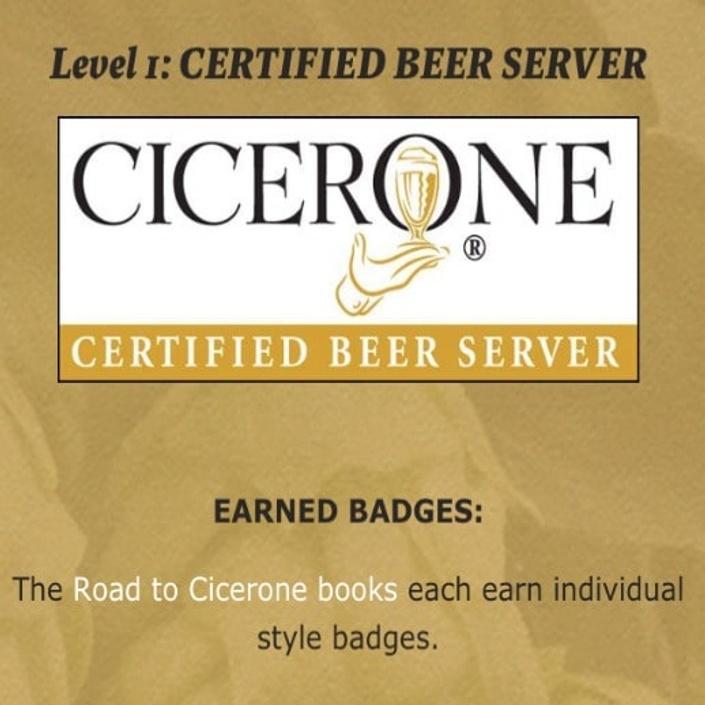 cicerone level certification certified beer server