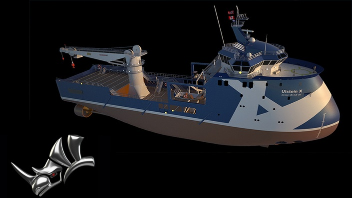 Rhino 3D V6 XBow Ship Modeling and rendering with Vray Level